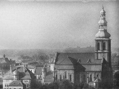 Zdjęcie kościoła św. Antoniego w Dąbrówce Małej z 1937 roku